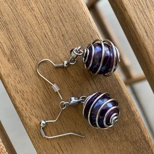 Purple Earring